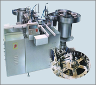 Automatic Double Head Filling, Plugging & Capping Machine